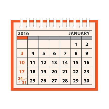 meses del a�o: Concepto de dise�o moderno plana de planificaci�n de negocios con el calendario en el fondo blanco. Vectores