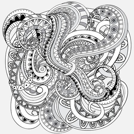 Hand drawn doodle abstract background in the grey color.