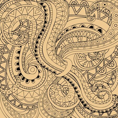 Hand drawn doodle abstract background.