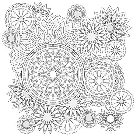 Vector Patrón Transparente Hecho De Flores Blancas Y Negras Para ...