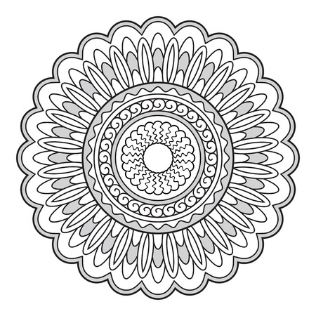 crockery: Mandala with hand drawn elements. Image for tattoo,  decorate porcelain, ceramics, cups, crockery, dishes.