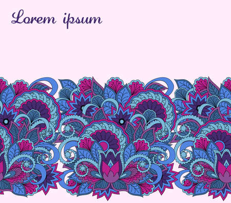 Hand drawn seamless pattern for banner background for visit, invitation card backdrop, decorate dishes, cup, porcelain, cases, skins, stationery. Ribbon background. 스톡 콘텐츠 - 151581904