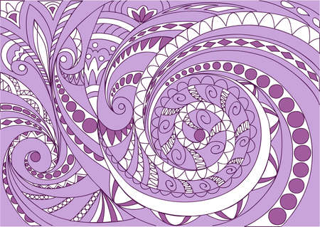 Hand drawn zen tangled white and violet geometric pattern  for decorate cards, dishes,  porcelain, stationery, cases. eps 10. 일러스트