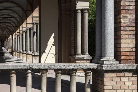 perspective view of colonnade at Mirogoj