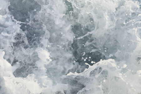 seething: detail of seething sea water with many droplets Stock Photo