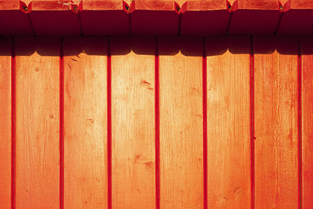 wooden planks painted red Stock Photo