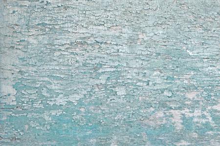 surface of peeling cyan paint