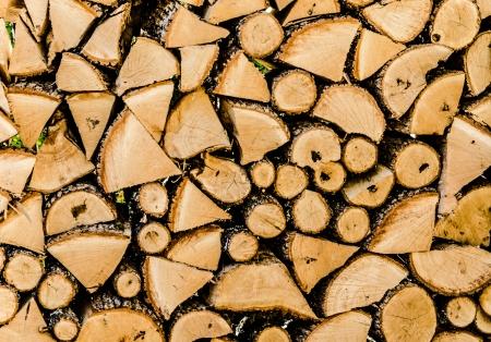 log basket: Wood structure