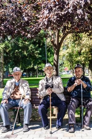 Old gentleman in the park  Editorial