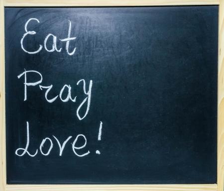 Eat, Pray, Love Lizenzfreie Bilder