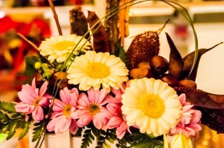 Variation von Blumen, alle zusammen angeordnet