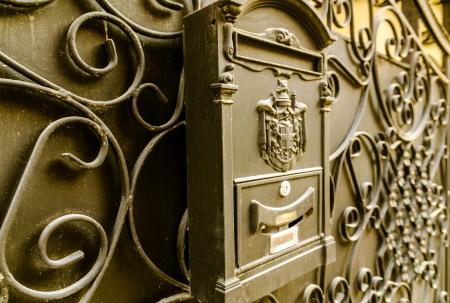 Das Postfach auf der Stahlt�r, close-up