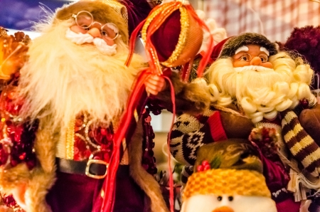 Zwei Weihnachts ein Puppen hautnah Lizenzfreie Bilder