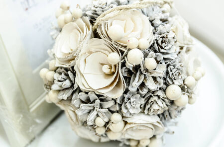 Bouquet of white flowers photo