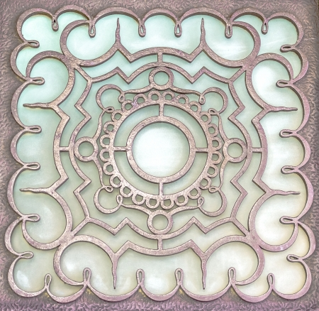 Metal oriental design