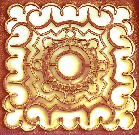 Golden ornamental design  photo