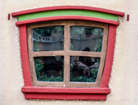Little window from a little wooden house