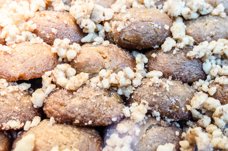 Melomacarona,traditional cookies with walnuts in Thessaloniki,Greece  Stock Photo