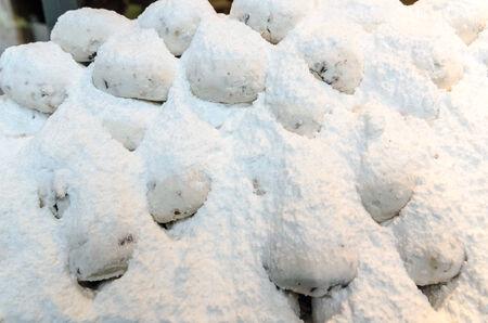 Honey cookies with shugar powder
