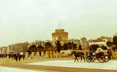 Der Turm in der Stadt Thessaloniki