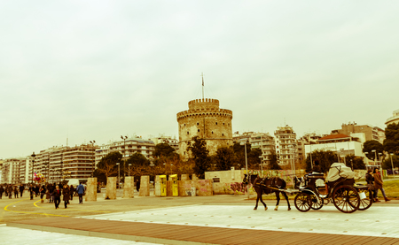 The tower in the Thessaloniki town  Editorial