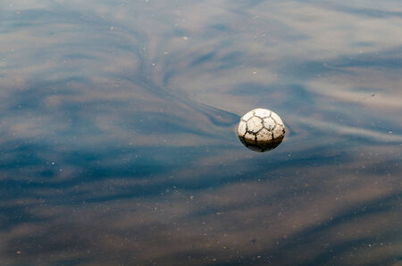 Foot-ball in the waters of the Thessaloniki coast line
