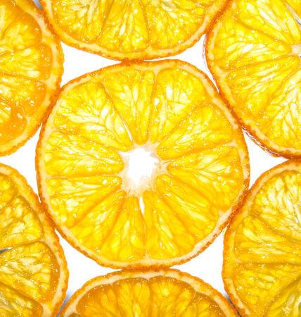 Slices of orange close-up  Stock Photo