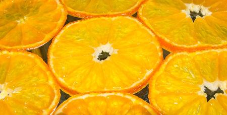 Scheiben von Orangen