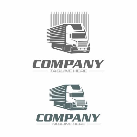 trailer truck logo Illustration