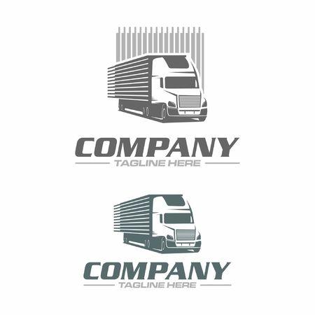 trailer truck logo Vettoriali
