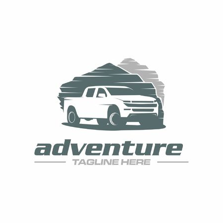 pickup truck adventure Vettoriali