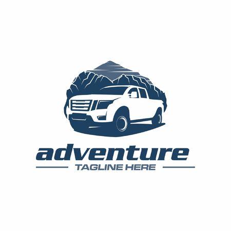 aventura en camioneta Ilustración de vector