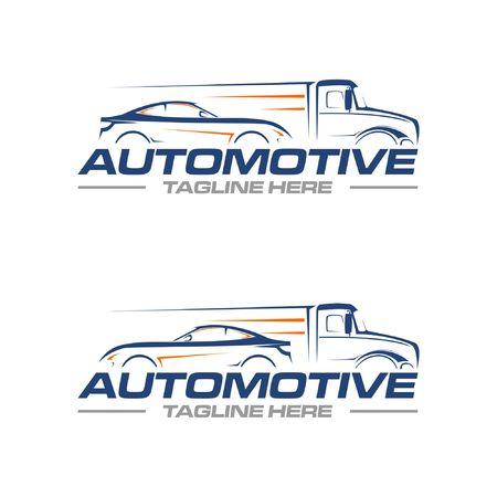 car and truck logo Vettoriali