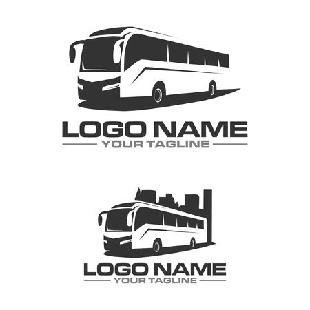 bus city logo Illustration