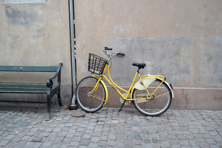 copenhagen: Copenhagen Yellow Bike Portrait