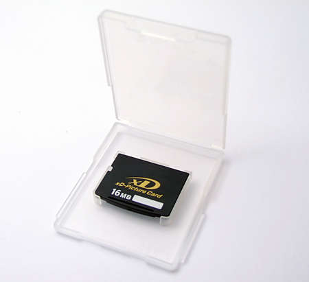 mb: xd memory card on white background