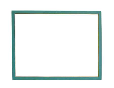 Green photo frame isolated photo