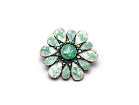 jewellery flower isolated Stock Photo