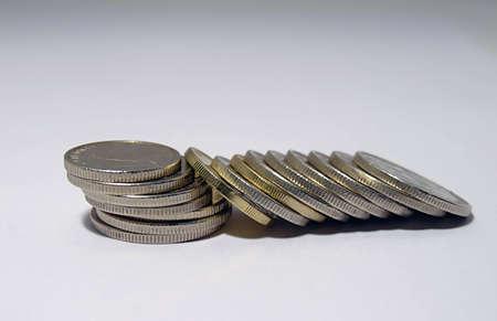 tresure: metal coins spread all over