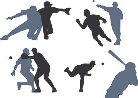 baseball duels sihouettes Stock Vector - 431722
