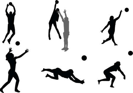offence: volleyball silhouettes