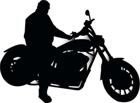gas man: Biker silhouette Illustration