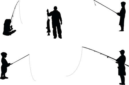 fishing sihouettes