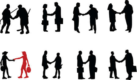 handshake silhouette Vector