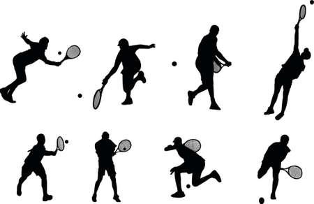 raquet: tennis silhouettes