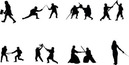 esgrima: espada lucha silueta