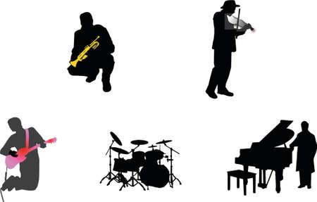 singers: music silhouette