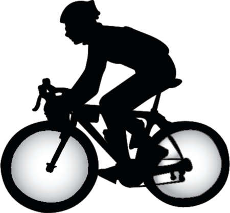 bicycle rider: bicycle rider silhouette Illustration