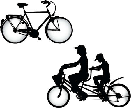 pair of bicycles Vector
