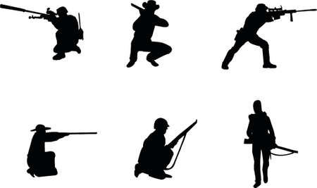 tactical: rifleman silhouettes